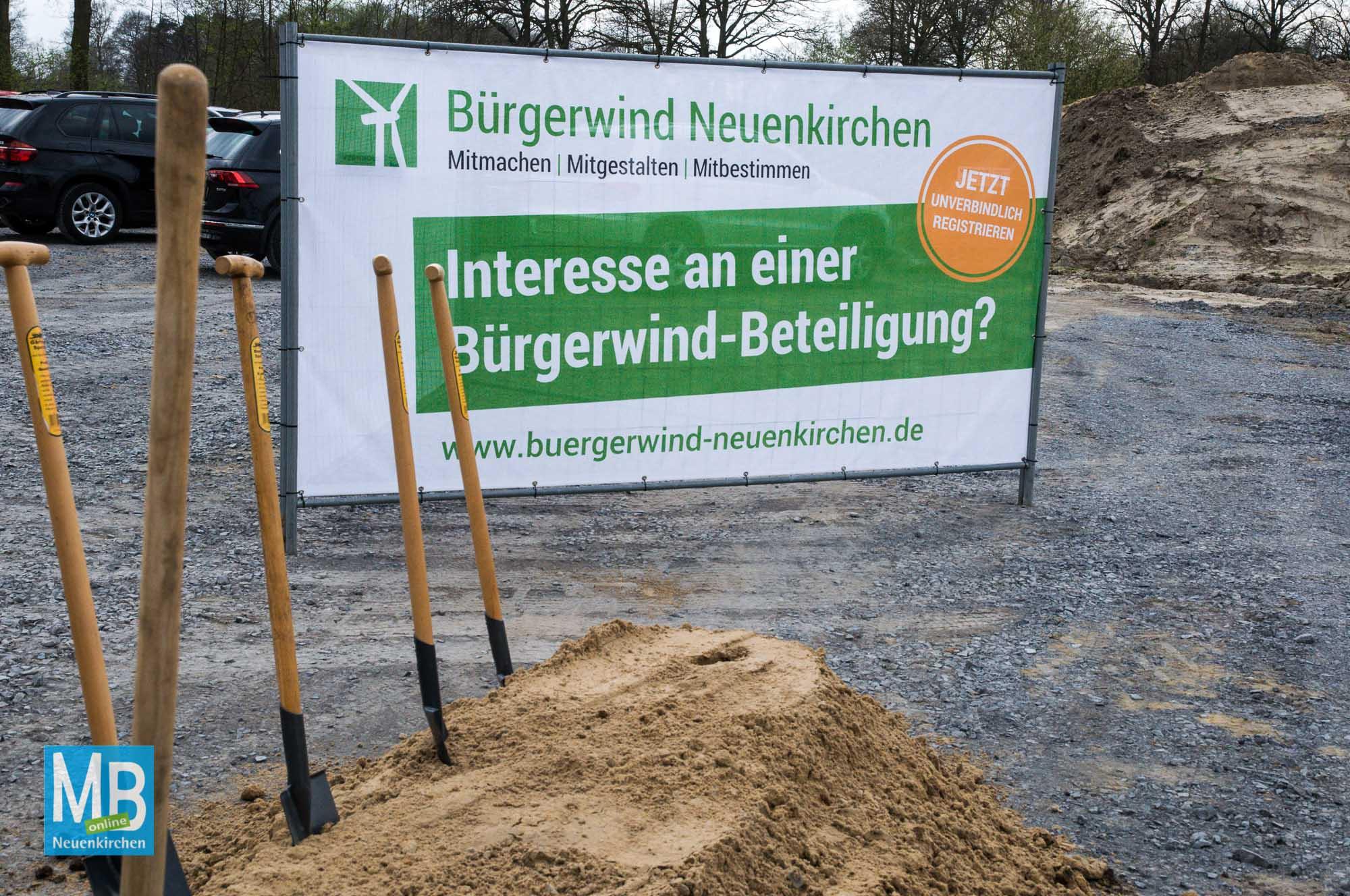 1. Spatenstich Bürgerwindpark