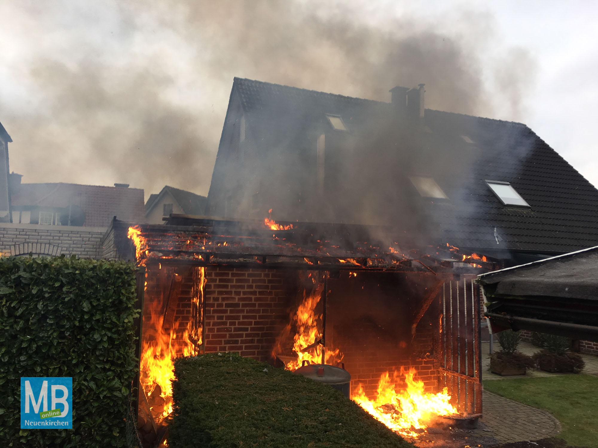 Die Feuerwehr hatte den Brand schnell unter Kontrolle. | Fotos: Heuermann / FFW