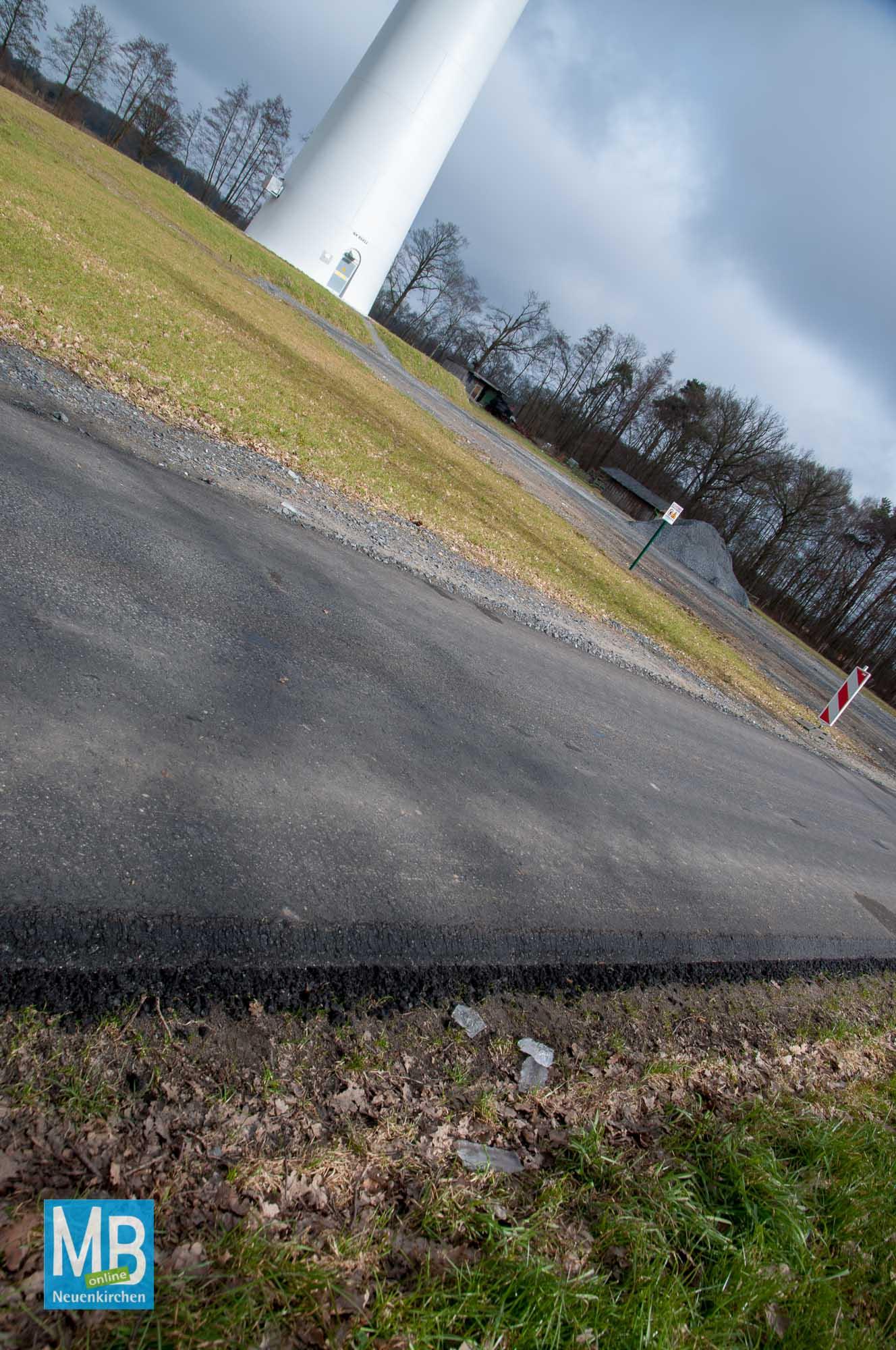 Eiswurf Bürgerwindpark