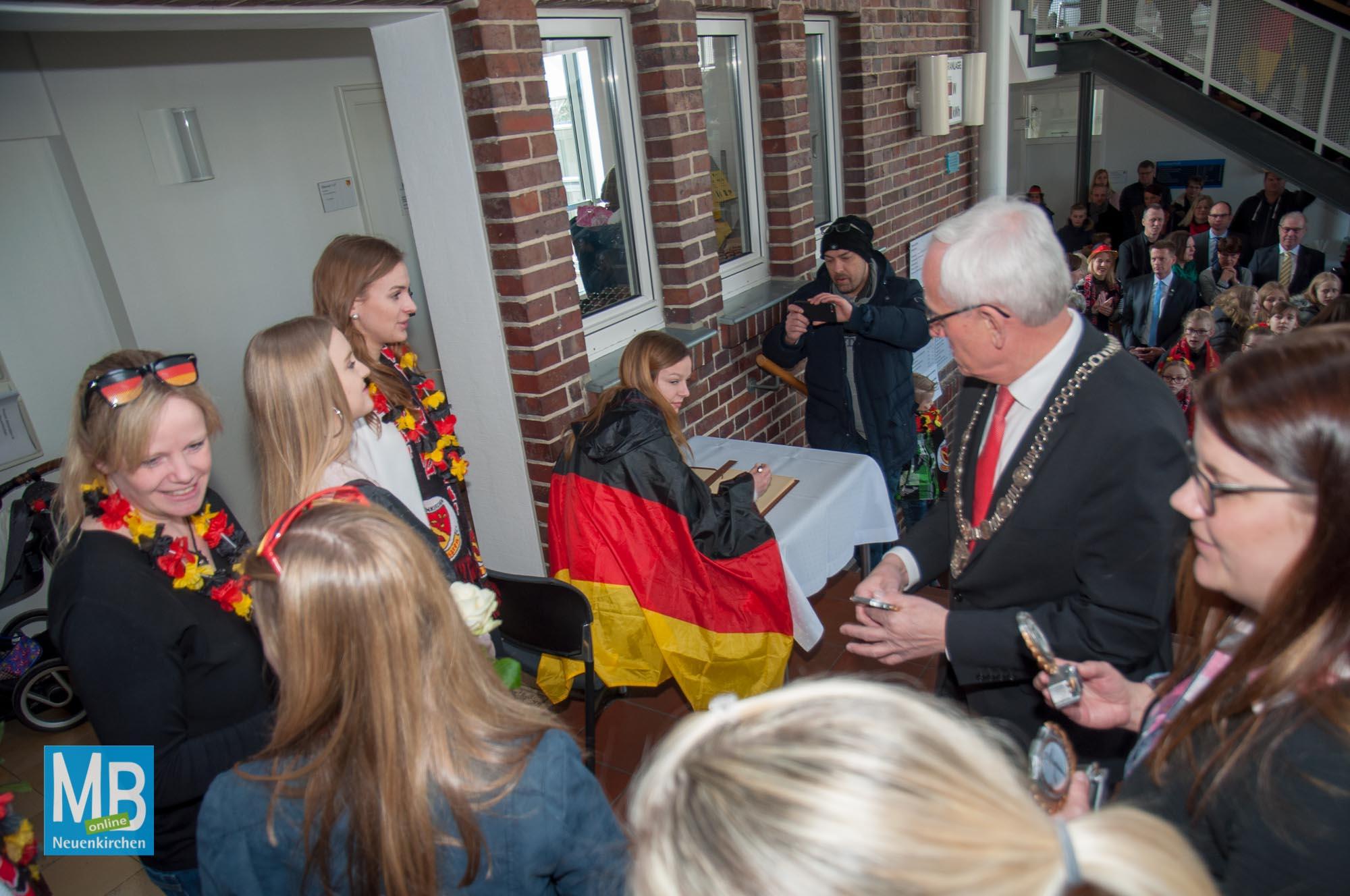 Empfang Deutscher Meister im Rathaus 2018