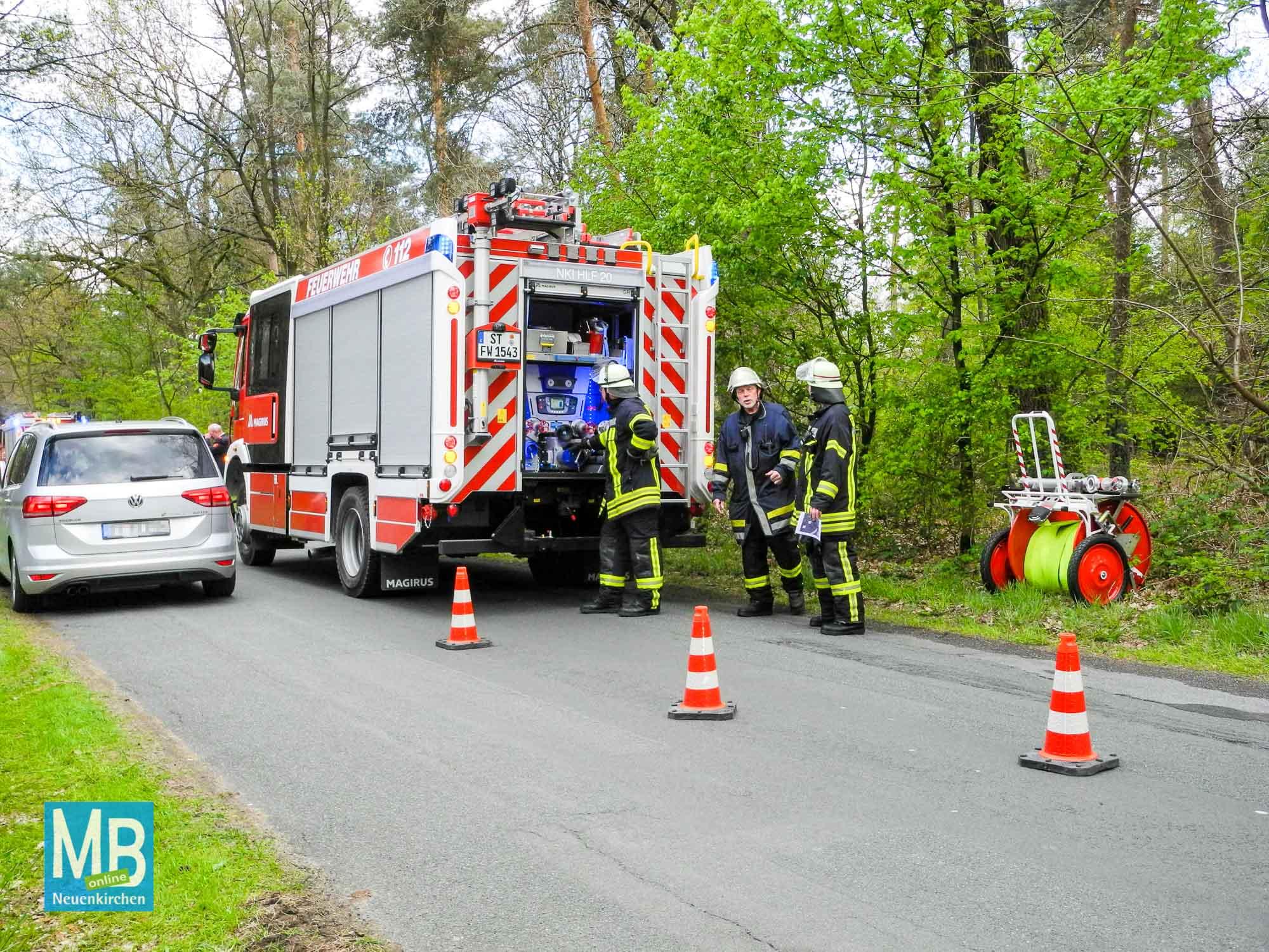 "Feuerwehrübung ""Waldbrand"""