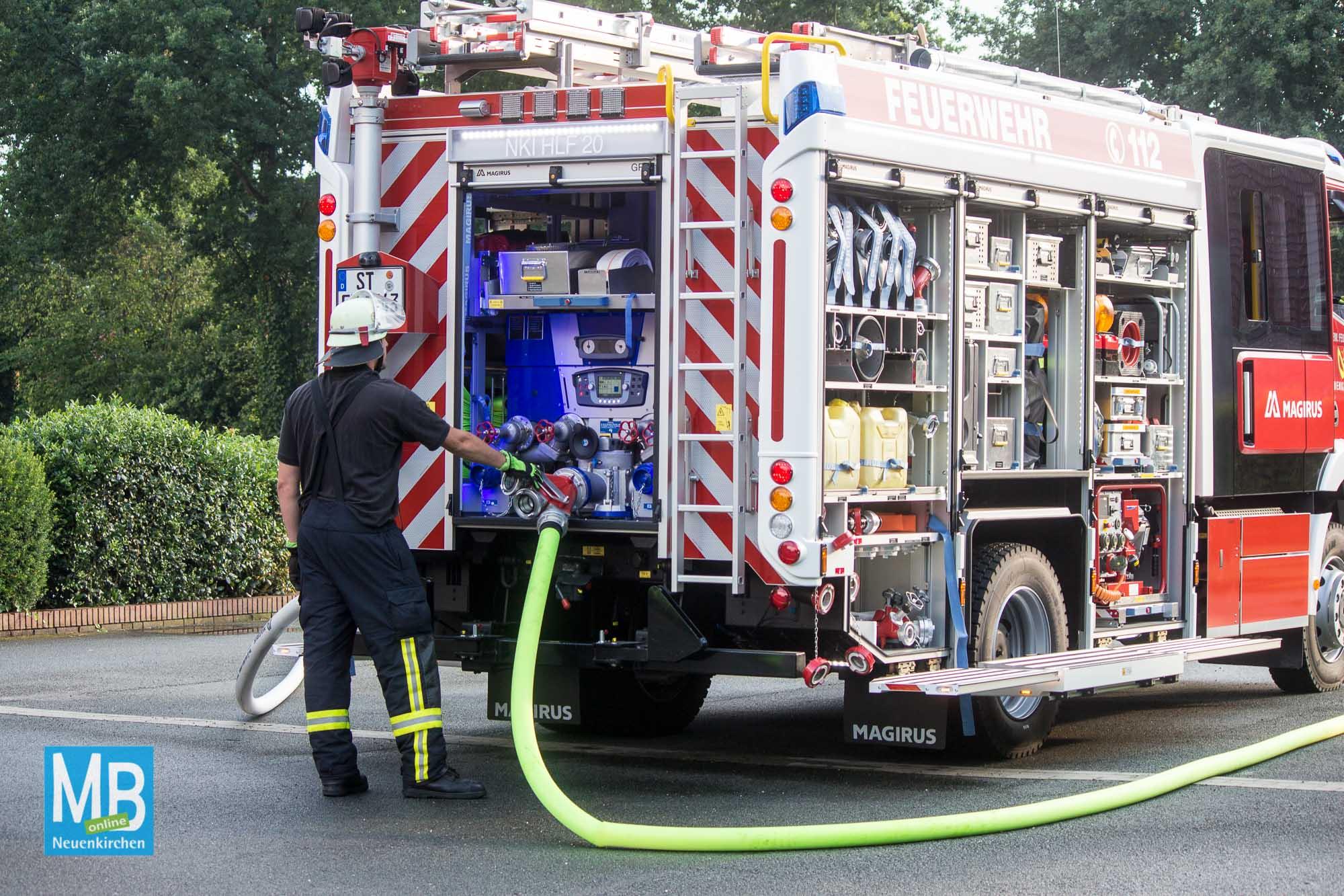 Feuerwehrübung Hof Wessels