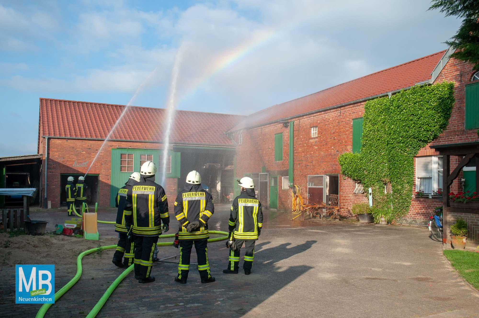 Feuerwehrübung Blitzeinschlag
