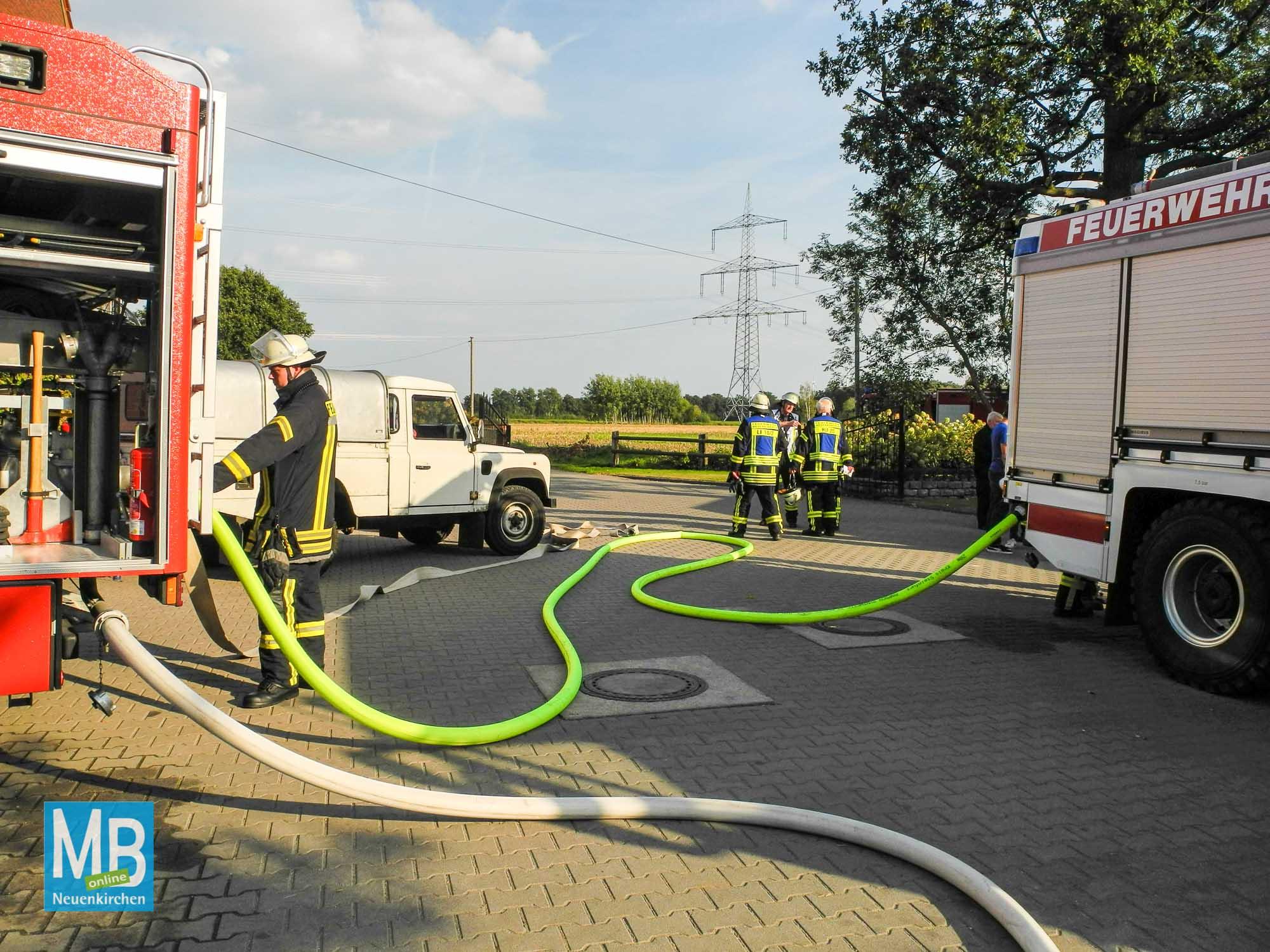 Feuerwehrübung Bauernhofbrand