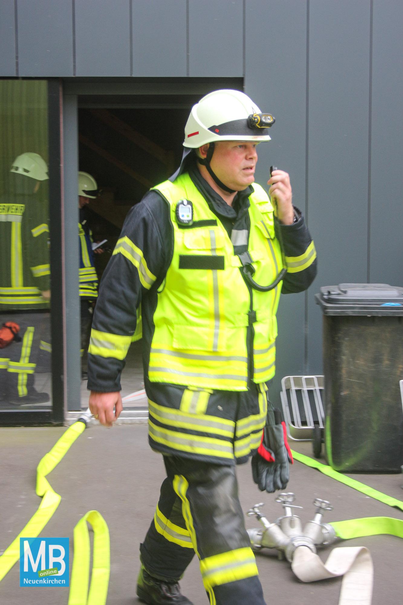 Feuerwehrübung Brüggemann