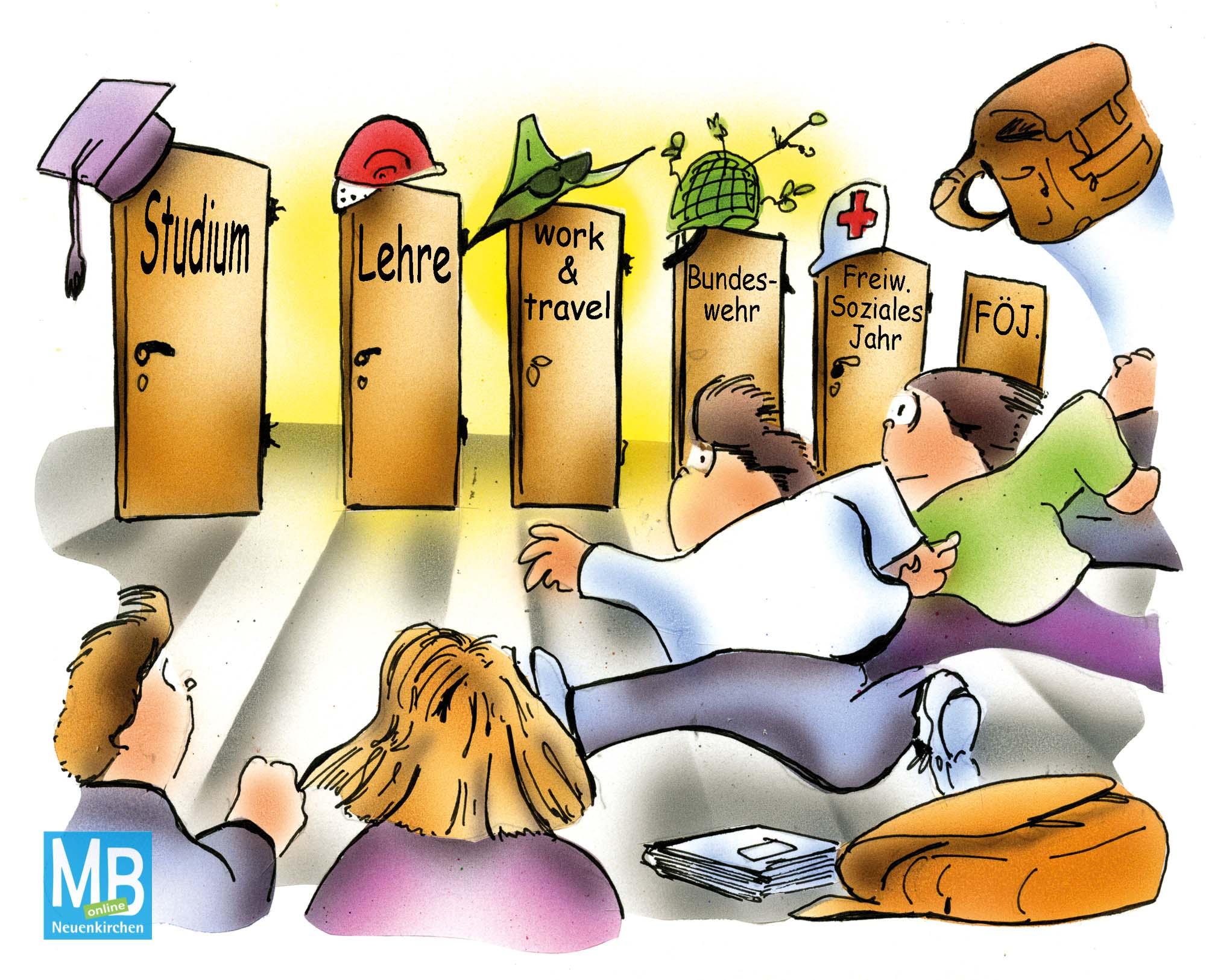 Karikatur: H. Schwarze-Blanke, HSB-Cartoon
