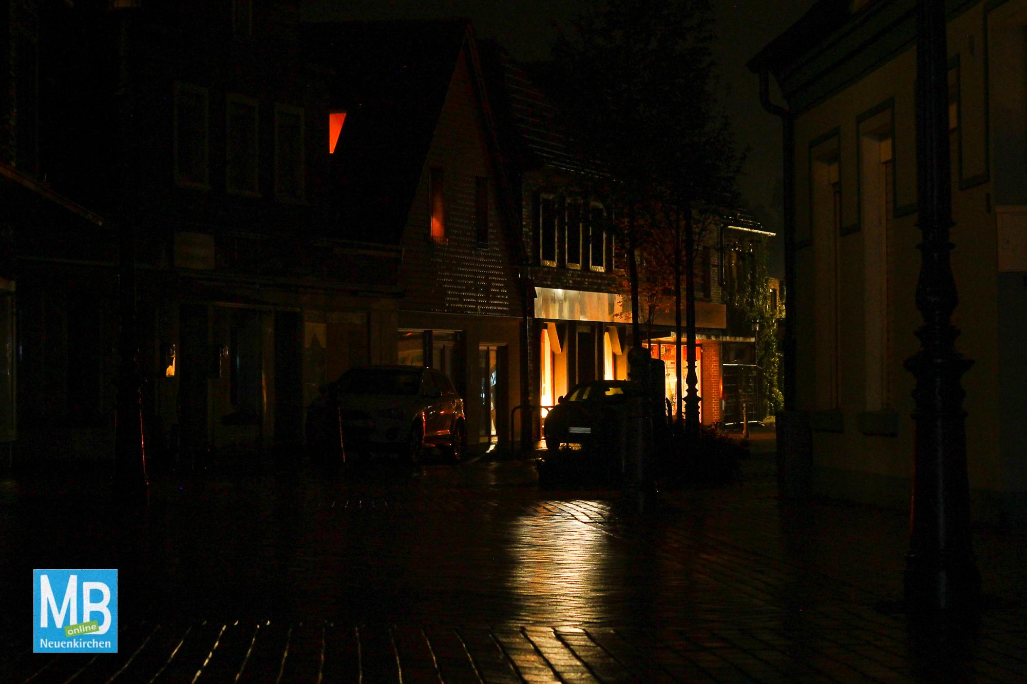 Stromausfall in der Fußgängerzone in der gestrigen Nacht. | Foto: Kaumanns