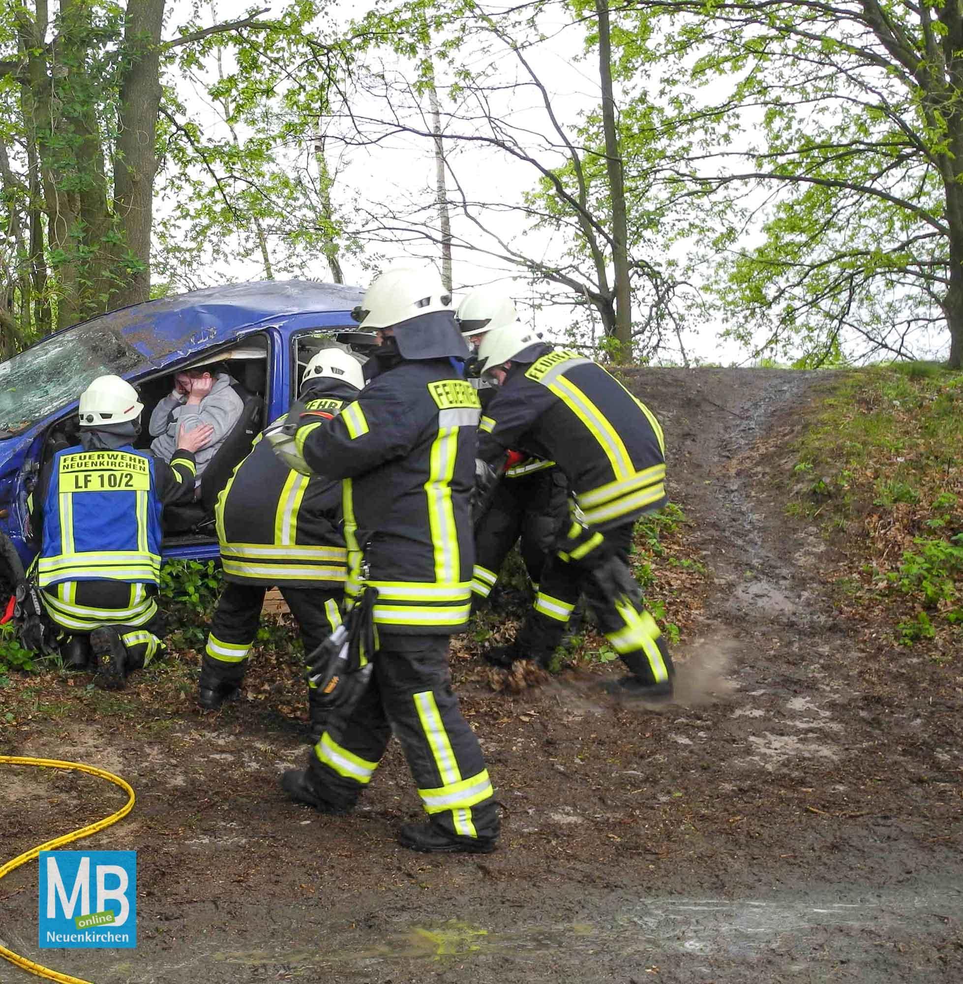 Gemeinsame Übung Feuerwehr/DRK/DLRG