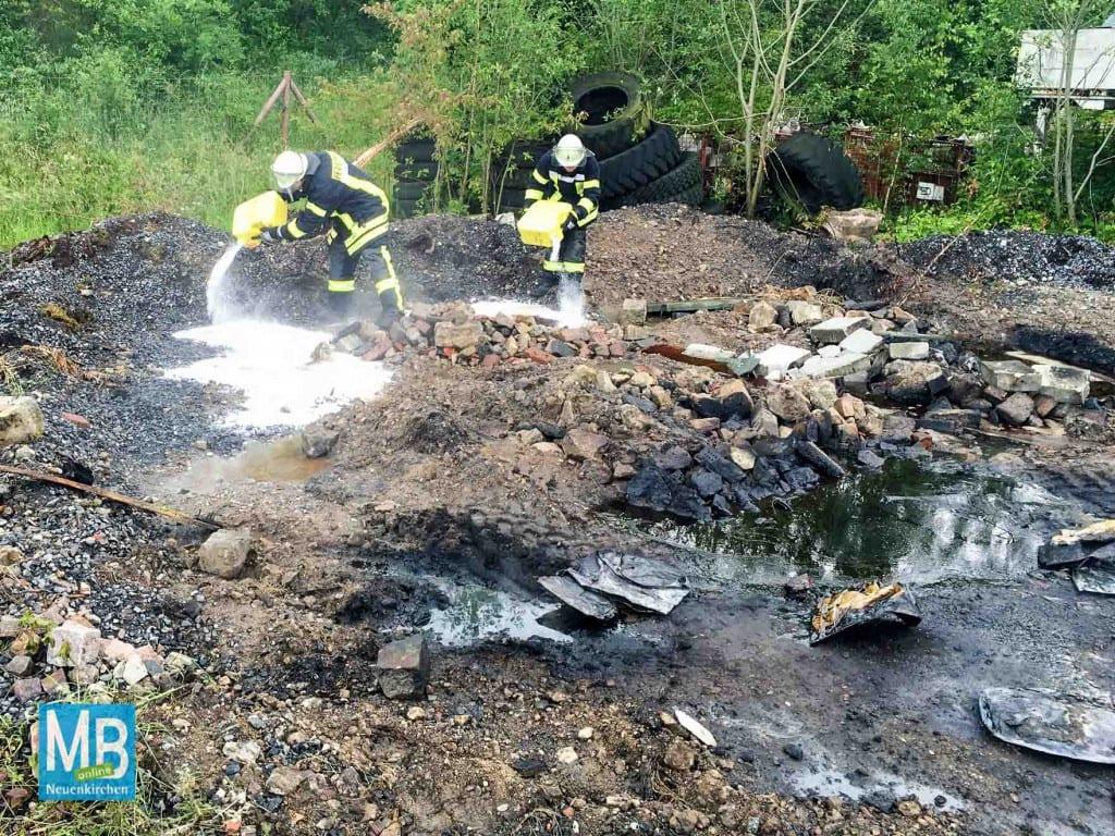 Brand im Industriegebiet Süd