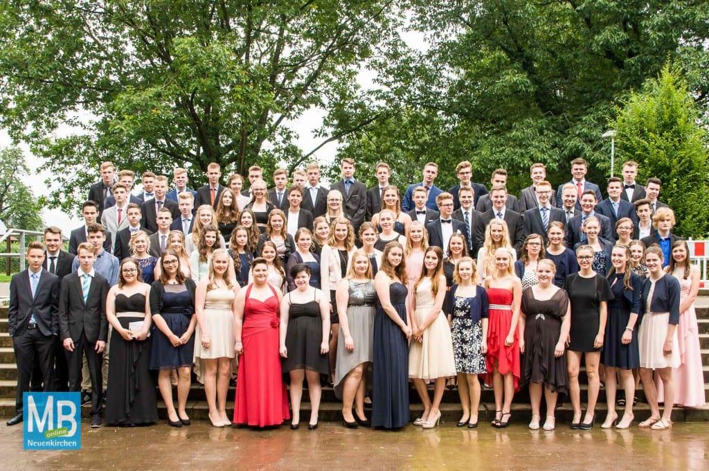 Der Abschlussjahrgang 2016 der Emmy-Noether-Schule.
