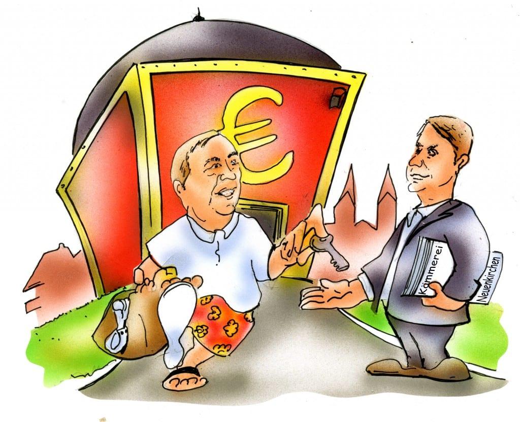 Karikatur: Heinrich Schwarze-Blanke