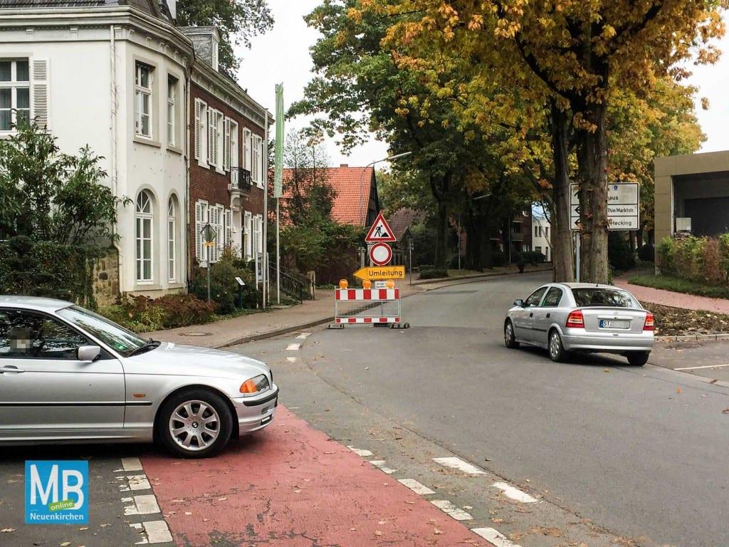 Für die Bauarbeiten an der Kreuzung Hauptstraße/Alphons-Hecking-Platz wird eine Vollsperrung eingerichtet. | Foto: Stefan Klausing