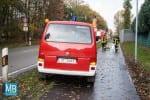 Eine Ölspur hielt die Feuerwehr am Donnerstagvormittag in Atem. | Foto: Heuermann