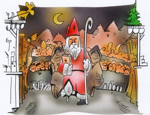 Gedränge in der Weihnachtszeit