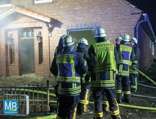 Feuerwehr Neuenkirchen probt Ernstfall an einem Abrissgebäude
